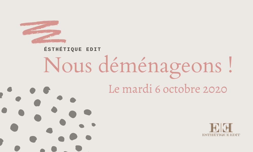 affiche- déménagement Nouvel emplacement rue St-Denis