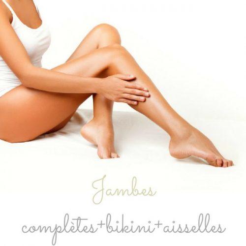 Jambes complètes+bikini+aisselles